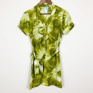 Anthro Tabitha Green Abstract Floral Shirtdress 37